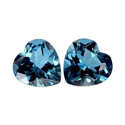 London blue topaz heart cut 7mm loose gemstone