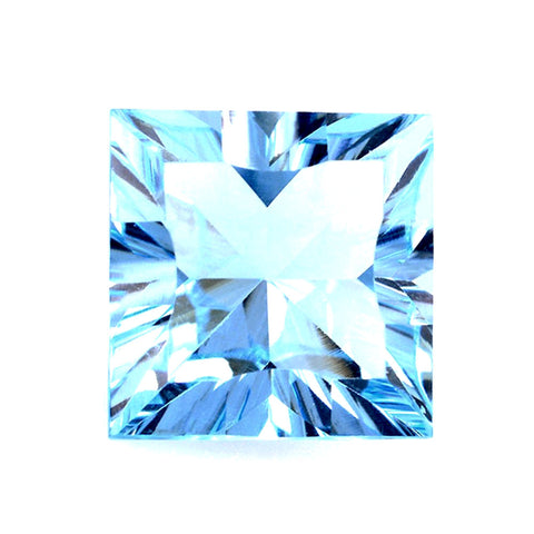 Blue topaz square mirror cut - 6mm
