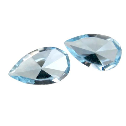 natural sky blue topaz pear mirror cut 7x4mm loose gemstone