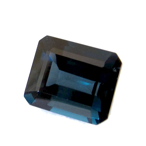 london blue topaz octagon emerald cut gemstone 11x9mm jewel