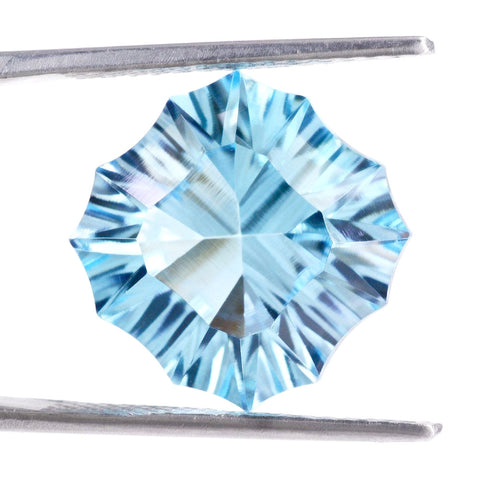 sky blue topaz fancy concave cushion cut 8mm genuine jewel