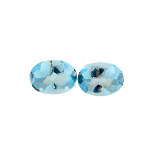sky blue topaz oval buff-top cut 8x6mm loose gemstone