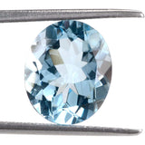 sky blue topaz oval cut 14x12mm natural gemstone