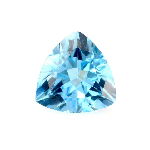 Swiss blue topaz trillion cut 8mm natural gemstone
