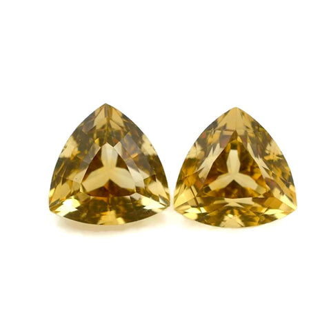 Citrine trillion portuguese cut - 12 mm