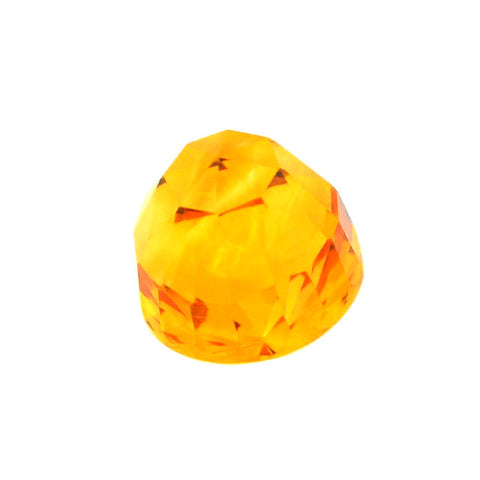 Citrine bullet checker cut cabochon - 11 mm