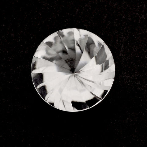 natural crystal quartz round buff-top whirl cut 8mm gemstone