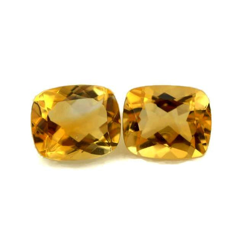natural citrine cushion cut 12x10mm gemstone