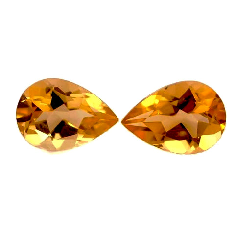 natural citrine pear cut 10x7mm gemstone