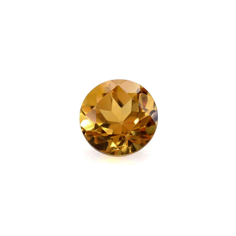 Natural citrine round brilliant cut 4mm gemstone