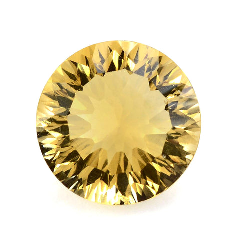 natural citrine round concave cut 10mm gemstone