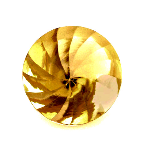 natural citrine round buff-top whirl cut 10mm gemstone