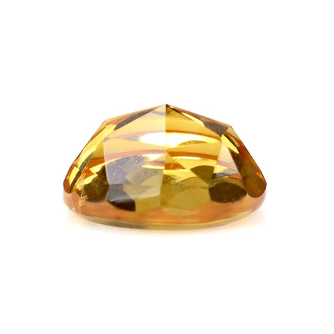 Natural citrine round rose cut cabochon 10mm gemstone