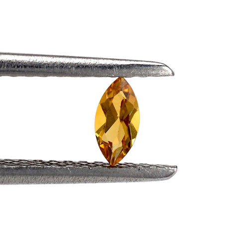 natural citrine marquise cut 14x8mm gemstone from Brazil