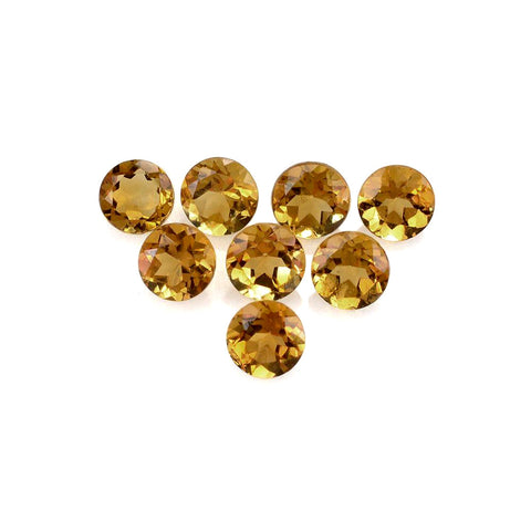 citrine round brilliant cut 5mm natural gemstone