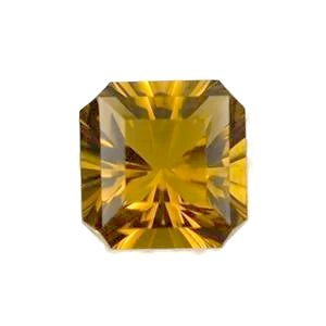 Citrine asscher octagon cut - 10mm
