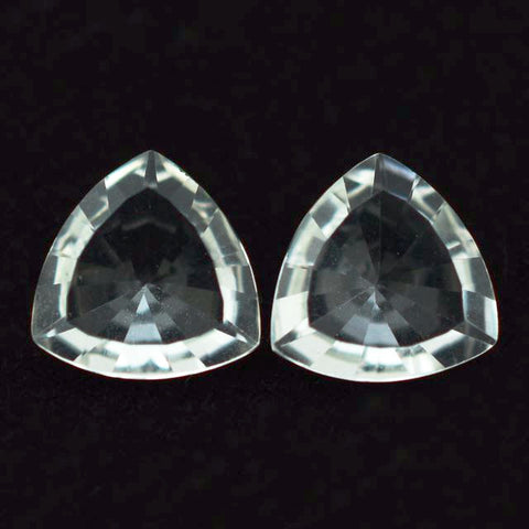 Crystal Quartz trillion mirror cut - 8mm