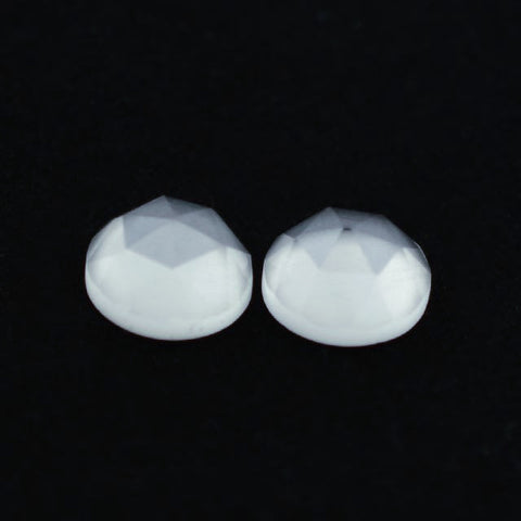 Crystal Quartz round rose cut cabochon - 8mm