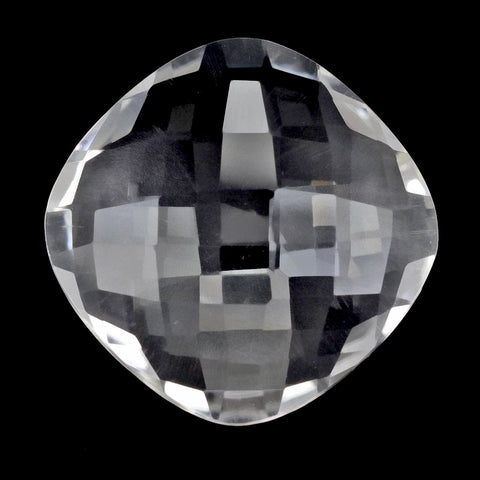 Crystal Quartz cushion checkerboard cabochon 8mm loose stone
