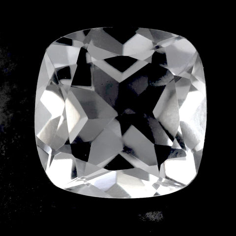 crystal quartz transparent cushion cut 10mm loose gemstones
