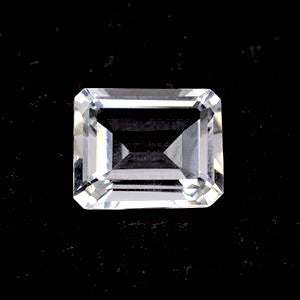 natural crystal quartz octagon emerald cut 10x8mm gemstone