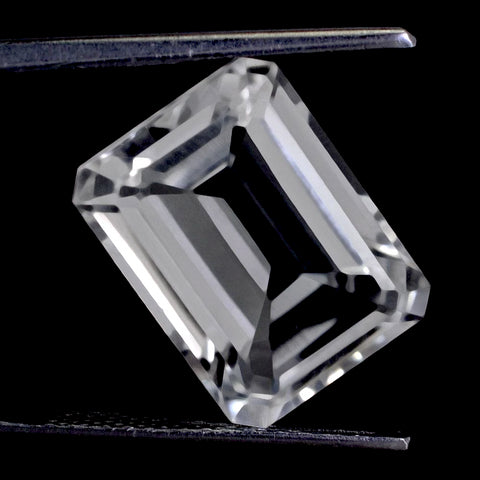 crystal quartz octagon emerald cut 12x10mm loose gemstone