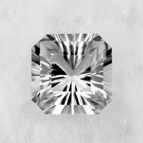 Crystal quartz octagon asscher cut 10mm loose gemstone
