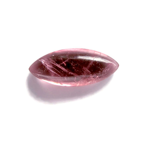 tourmaline pink cabochon marquise cut 14x6mm beautiful gemstone