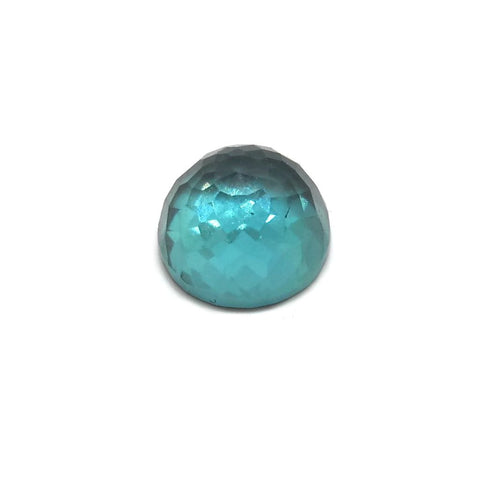 tourmaline blue cabochon round rose-cut 6mm loose gemstone