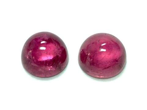 Tourmaline cabochon round cut - 7mm