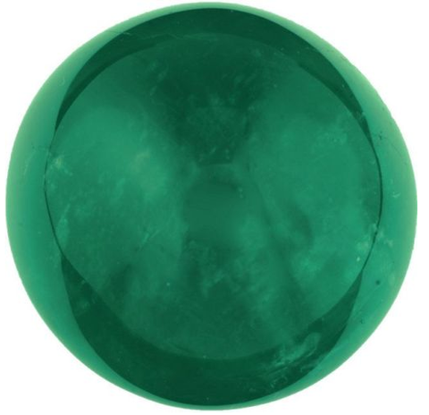 Green tourmaline cabochon round cut 9mm loose gemstone