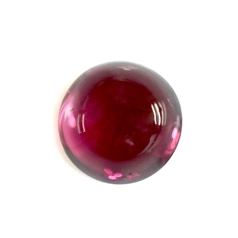 Tourmaline cabochon round cut - 9mm