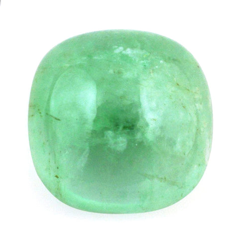 emerald cabochon cushion 6mm loose gemstone
