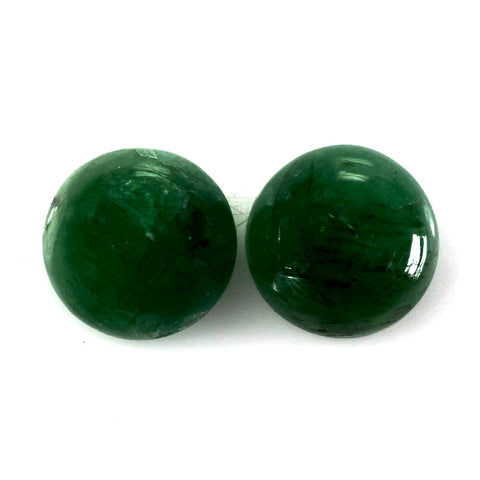 emerald cabochon round 6mm loose gemstone