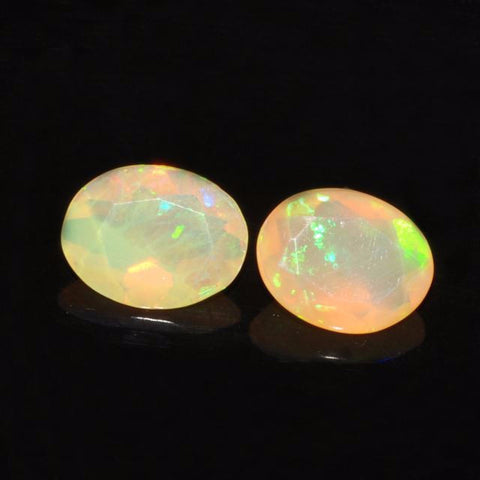 Natural ethiopian opal yellow orange oval cut loose gemstone