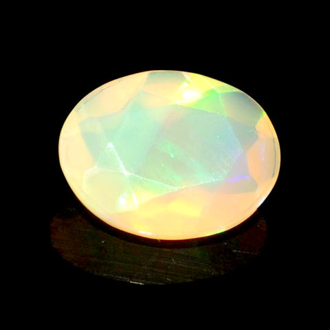 Genuine ethiopian opal yellow orange oval cut 11x9mm gemstone