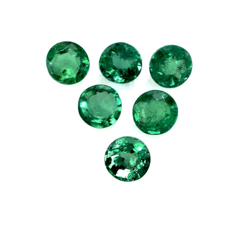 emerald round brilliant cut gemstone 3mm