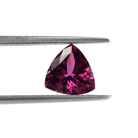 pink tourmaline trillion cut 4mm natural gemstone