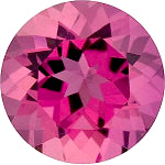 Tourmaline round cut - 6mm (rose-pink)