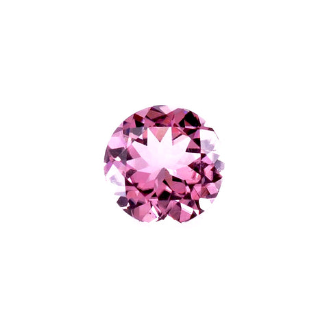 natural pink tourmaline round cut 6mm gemstone from Brazil