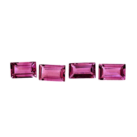 tourmaline pink baguette cut 5x3mm loose genuine gemstone