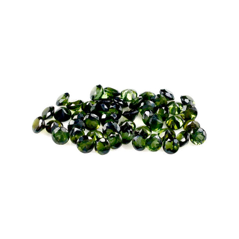 green tourmaline round cut 1.5mm gemstone