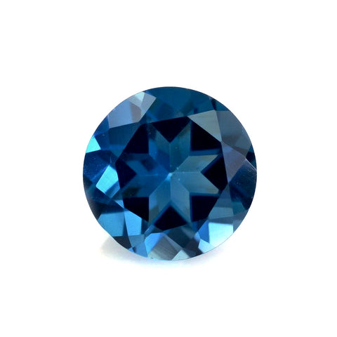Blue tourmaline indicolite round cut 5.2mm gemstone from Brazil
