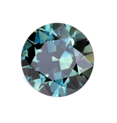Teal tourmaline round cut 5.2mm gemstone from Brazil