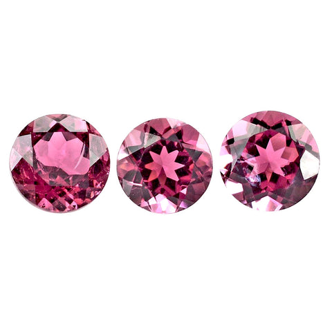 tourmaline pink round cut 2.5mm gemstone