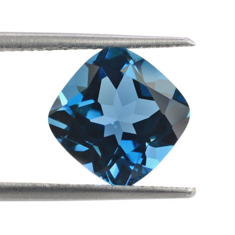 blue tourmaline cushion cut loose gemstone