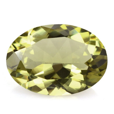 yellow tourmaline oval cut 8x6mm gemstone