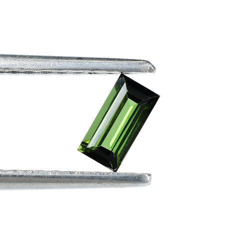 green tourmaline baguette 6x3mm loose gem