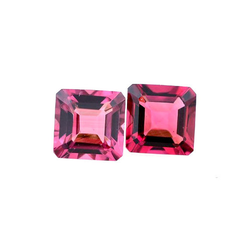 Natural pink tourmaline square octagon cut loose gemstone
