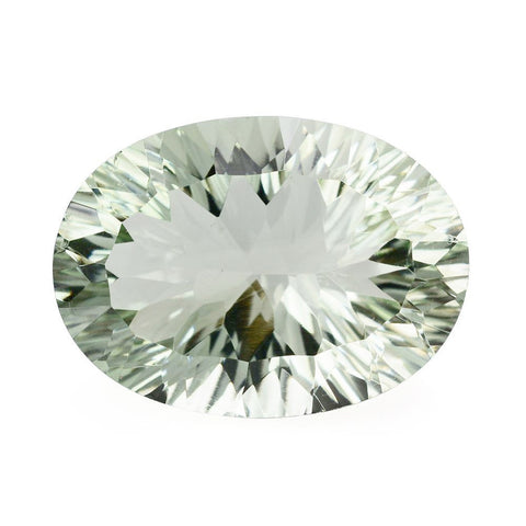 green amethyst oval concave cut 12x10mm loose gemstone